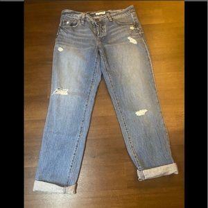 Loft Distressed Boyfriend Jeans - 6